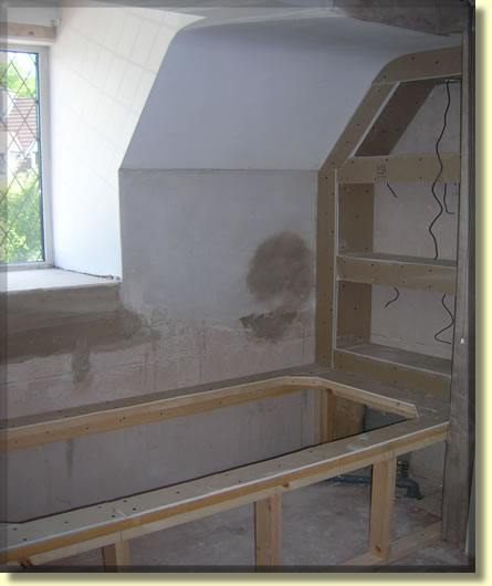 Bath during installation on a bathroombaby project in for Bathroom ideas belfast